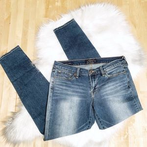 Lucky Brand Charlie Skinny Faded Jeans Size 10